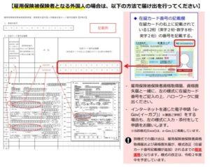 外国人雇用届出書の書き方見本