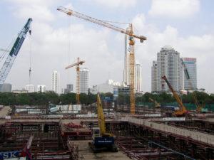 大規模建設現場の画像
