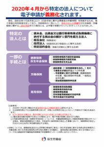 オンライン申請の義務化